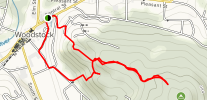 Mount Peg Foot and Bridle Trails Map