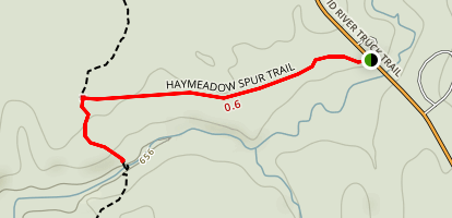 Haymeadow Falls Trail Map