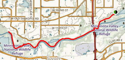 Bloomington Ferry Trail Map