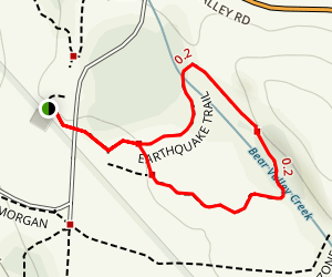 Earthquake Trail Map