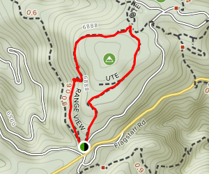 Ute and Range View Trail Loop Map