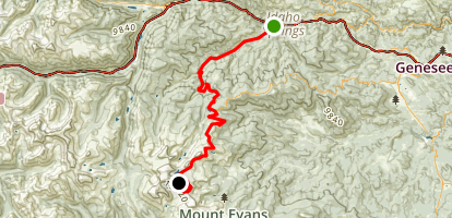 Mount Evans Scenic Byway Map