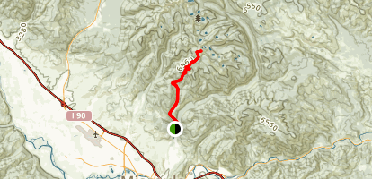 Stuart Peak Trail Map