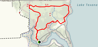 Lake Texana State Park Trail Map