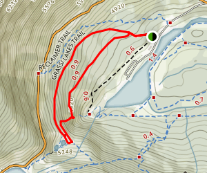 Grassi Lakes Trail Map