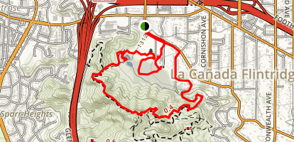 Descanso Gardens: Chaparral Nature Trail Map