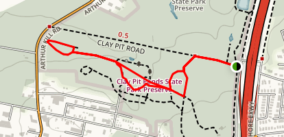Clay Pit Ponds Connector Trail Map