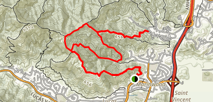 Blackstone Canyon Trail and Queenstone Fire Road Map