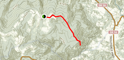 First Peak Trail Map