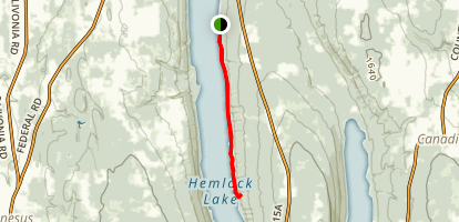 Hemlock Lake Map