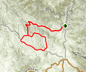 Upper Santa Ysabel Creek Trail Map