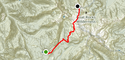 Old Snowy Mountain Climber's Trail Map