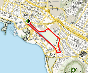 Ala Wai Canal Trail Map