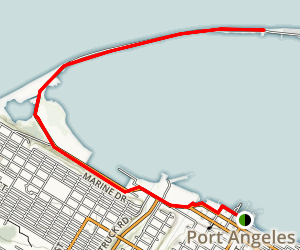 Olympic Discovery Trail: Port Angeles Waterfront Map