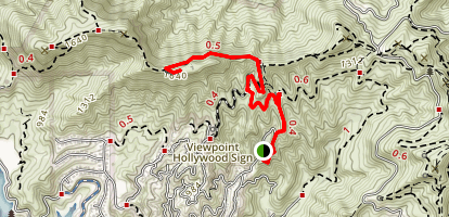 Beechwood Trail to Hollywood Sign Map