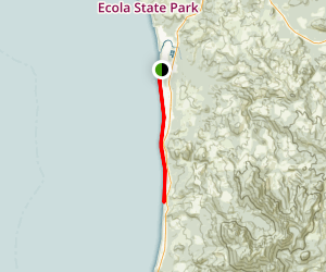 Haystack Rock Trail Map