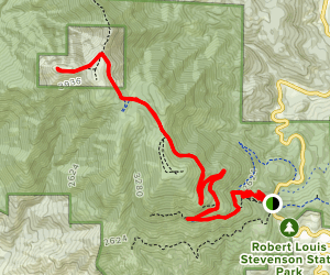 Mount Saint Helena Trail Map