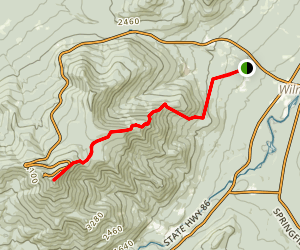 Whiteface Mountain Summit Trail Map