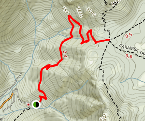 Devil's Slide to Saddle Junction Trail Map