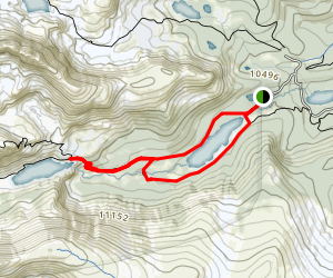 Lake Isabelle Trail (ROAD CLOSED) Map