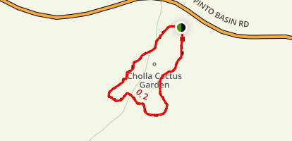 Cholla Cactus Garden Nature Trail Map