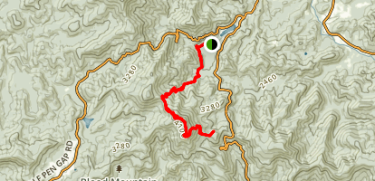 Vogel State Park to Blood Mountain Map