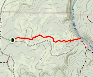 Gorman Falls Trail Map