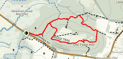 Ridge Trail and North Loop Trail Map