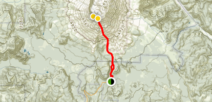 Worm Flows Trail Map