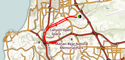 Rose Canyon Trail Map