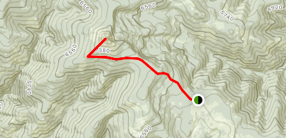 Reservation Divide Trail #98 to Ch-paa-qn Peak Map