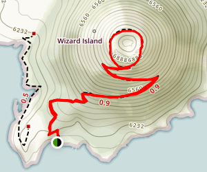 Wizard Island Trail Map