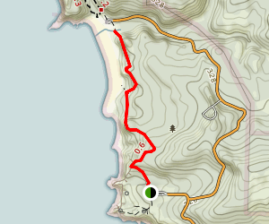 Ecola State Park to Indian Beach Trail [CLOSED] Map
