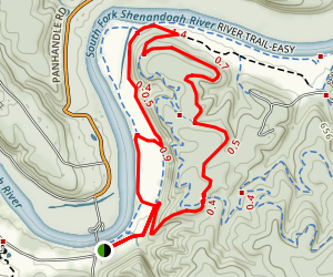 Massanutten Mountain and Shenandoah River Trail Map