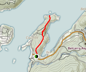 Belcarra Regional Park Trail to Jug Island Beach Map