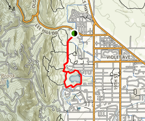 Foothills Trail to Wonderland Lake Loop Trail Map