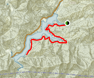 Applegate Lake: French Gulch-Payette Trail Map