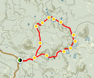 Cluster Lakes Loop Trail Map