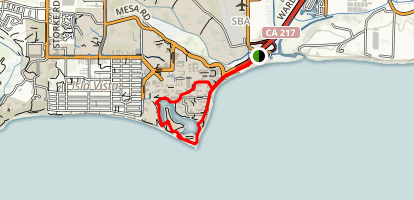 Goleta Beach and the UCSB Lagoon Trail Map