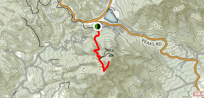 Sharp Top Trail Map