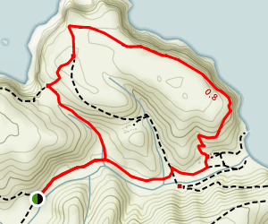 Scorpion Bay to Cavern Point Loop Map