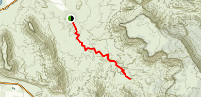 Professor Creek and Mary Jane Canyon Trail Map
