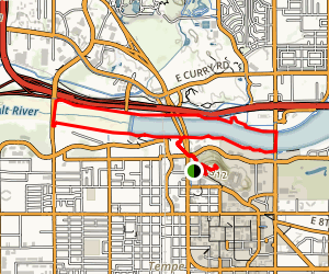 Hayden Butte And Tempe Town Lake Trail Map