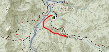 King Creek Falls Trail Map