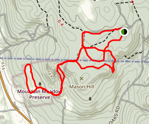 Mountain Meadow Preserve Trail Map