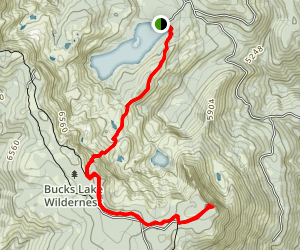 Silver Lake to Spanish Peak Trail Map