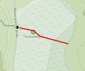 The Grandstand via Racetrack Trail Map
