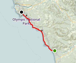 Olympic Coast South Trail Map