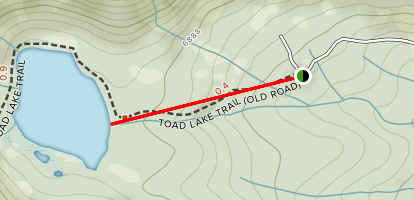 Toad Lake Trail Map