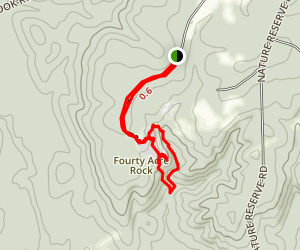 Forty Acre Rock Heritage Preserve Trail Map